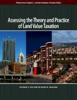 Assessing the Theory and Practice of Land Value Taxation pot