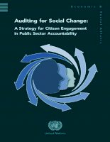 Auditing for Social Change: A Strategy for Citizen Engagement in Public Sector Accountability docx