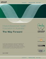 Interprofessional Health Education in Australia: The Way Forward pot