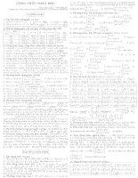 Tóm tắt công thức toán
