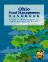Ohio Pond Management Handbook a guide to managing ponds for fishing and attracting wildlife potx