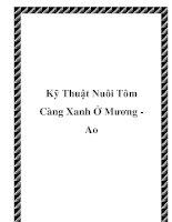 Kỹ Thuật Nuôi Tôm Càng Xanh Ở Mương Ao ppt