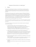 Statement of Work for the Recovery Audit Program potx