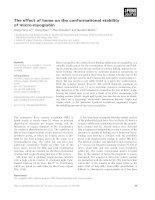 Báo cáo khoa học: The effect of heme on the conformational stability of micro-myoglobin doc