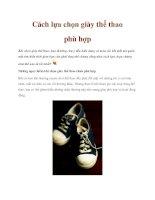 Cách lựa chọn giày thể thao phù hợp pptx