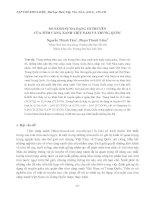 SO SÁNH SỰ ĐA DẠNG DI TRUYỀN CỦA TÔM CÀNG XANH VIỆT NAM VÀ TRUNG QUỐC doc