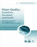 Water Quality Guidelines, Standards and Health: Assessment of risk and risk management for water-related infectious disease docx