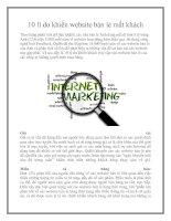 10 lí do khiến website bán lẻ mất khách doc