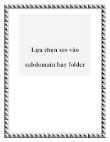 Lựa chọn seo vào subdomain hay folder pdf