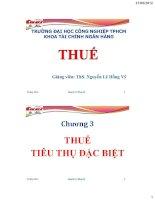 Bài giảng Thuế-Chương 3: Thuế tiêu thụ đặc biệt pdf