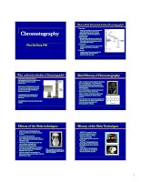 lecture 4 chromatography & tlc
