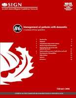 Management of patients with dementia: A national clinical guideline docx