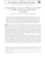 Profitability trends in Hollywood, 1929 to 1999: somebody must know something doc