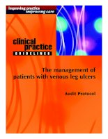 The management of patients with venous leg ulcers: Audit Protocol ppt
