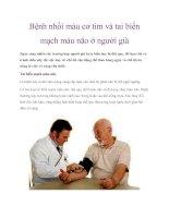 Bệnh nhồi máu cơ tim và tai biến mạch máu não ở người già pot