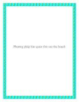 Phương pháp bảo quản tôm sau thu hoạch pdf