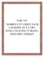 Luận văn : NGHIÊN CỨU CHIẾT TÁCH CAFFEINE TỪ LÁ TRÀ BẰNG CO2 LỎNG Ở TRẠNG THÁI SIÊU TỚI HẠN pot