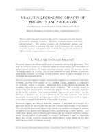 MEASURING ECONOMIC IMPACTS OF PROJECTS AND PROGRAMS pdf