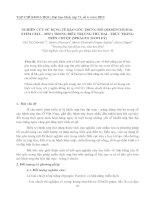 NGHIÊN CỨU SỬ DỤNG TẾ BÀO GỐC TRUNG MÔ (MESENCHYMAL STEM CELL - MSC) TRONG ĐIỀU TRỊ UNG THƯ ĐẠI - TRỰC TRÀNG TRÊN CHUỘT (SPRAGUE DAWLEY) ppt