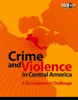 Crime and Violence in Central America: A Development Challenge docx