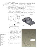 Đề thi môn học: CÔNG NGHỆ CAD/CAM/CNC-Đề số 2 pdf