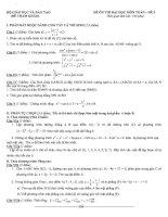 đề tham khảo ôn thi đại học môn toán đề (5)