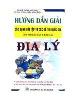 hướng dẫn giải các dạng bài tập từ các đề thi quốc gia của bộ giáo dục - đào tạo môn địa lí