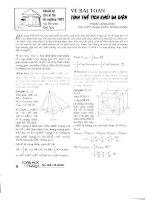Về bài toán thể tích khối đa diện pptx