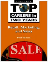 Top Careers in Two years: Retail, Marketing and Sales