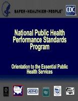 National Public Health Performance Standards Program - Orientation to the Essential Public Health Services docx