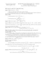 đề thi thử đại học lần 1 môn toán khối a, a1, b năm 2014 - trường thpt tử kỳ