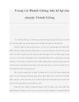 Trong vai Thánh Gióng, hãy kể lại câu chuyện Thánh Gióng pdf