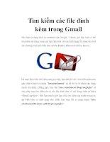 Tìm kiếm các file đính kèm trong Gmail pot