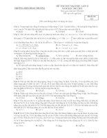 Đề Thi Đại Học Khối A, A1 Vật Lý 2013 - Phần 7 - Đề 8 pot