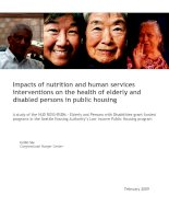 Impacts of nutrition and human services interventions on the health of elderly and disabled persons in public housing docx