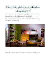 Phong thủy giường ngủ và bàn học cho phòng trẻ pdf