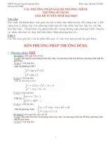 Các phương pháp giải hệ phương trình thường sử dụng giải đề tuyển sinh đại học docx