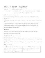 Địa Lí 10 Bài 14 – Thực hành