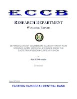 DETERMINANTS OF COMMERCIAL BANKS INTEREST RATE SPREADS: SOME EMPIRICAL EVIDENCE FROM THE EASTERN CARIBBEAN CURRENCY UNION pdf