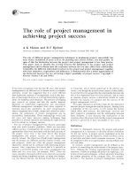 The role of project management in achieving project success doc