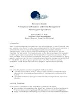 Resource Guide: Principles and Practices of Events Management - Planning and Operations doc