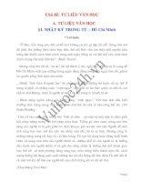 Chuyên đề Tư Liệu văn Học pdf