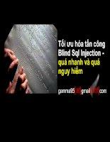 Tối ưu hóa tấn công Blind Sql Injection quá nhanh và quá nguy hiểm potx