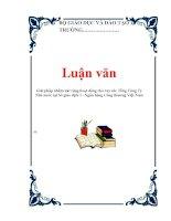 Luận văn: Giải pháp nhằm mở rộng hoạt động cho vay các Tổng Công Ty Nhà nước tại Sở giao dịch I - Ngân hàng Công thương Việt Nam doc