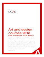 Art and design courses 2013 with a deadline of 24 March pot