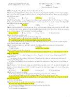 Đề Thi Đại Học Khối A, A1 Vật Lý 2013 - Phần 7 - Đề 10 pdf