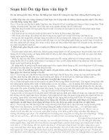 Soạn bài Ôn tập làm văn lớp 9