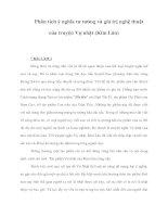 Phân tích ý nghĩa tư tưởng và giá trị nghệ thuật của truyện Vợ nhặt (Kim Lân) doc