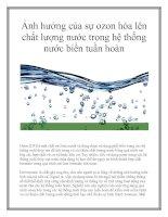Ảnh hưởng của sự ozon hóa lên chất lượng nước trong hệ thống nước biển tuần hoàn pdf