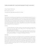 CHU KỲ KINH TẾ VÀ DỰ BÁO KINH TẾ NĂM 2013 pdf